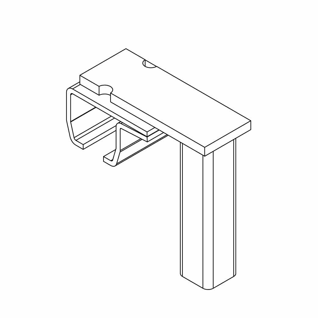 FLOOR MOUNT TRACK BRACKET