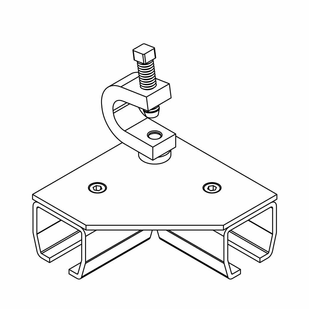 BEAM FLANGE 90 DEGREE ANGLE CONNECTOR