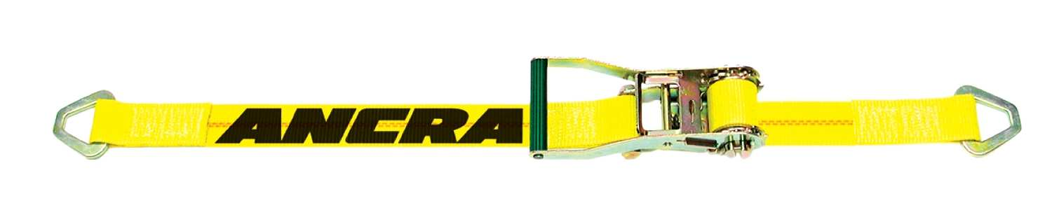Ancra 2 in. Ratchet Strap w/ A-40978-11 Delta Rings. Fixed End 18″