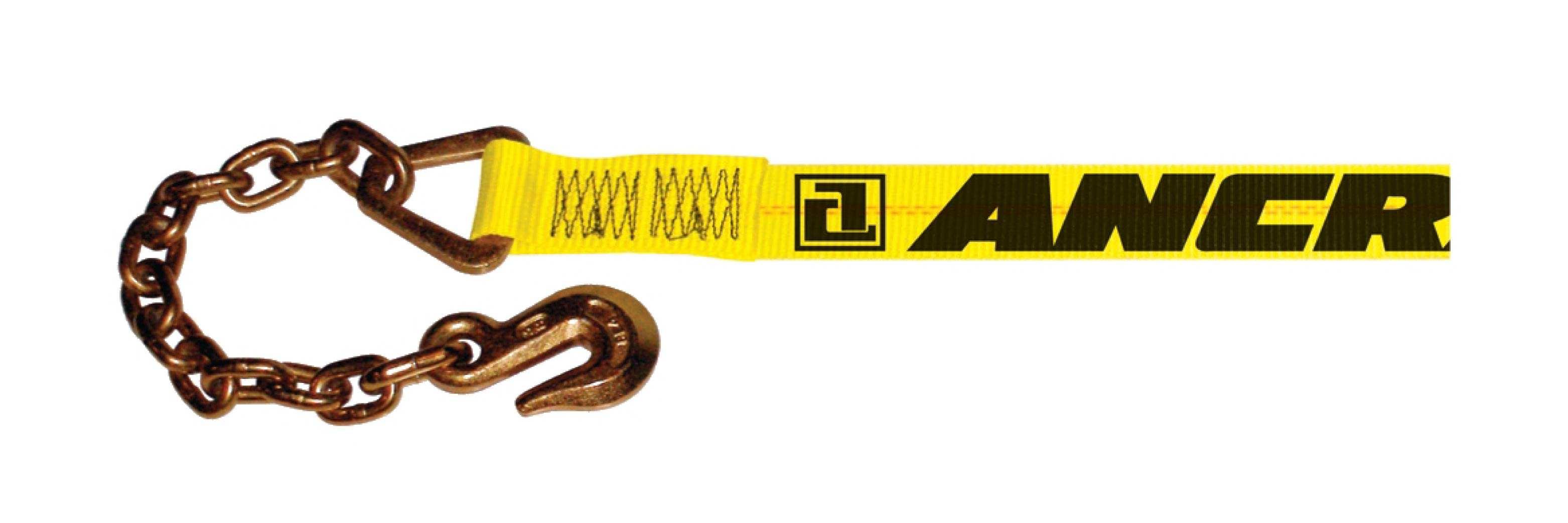 Ancra 2in Winch Strap w/ A-43366-21 Chain Anchor