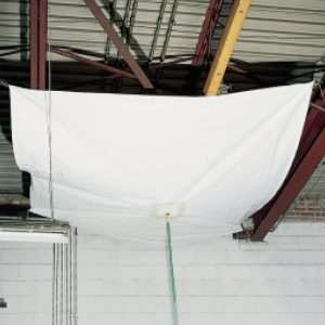Heavy Duty Flame Retardant Roof Leak Diverters And Drainage Tarps