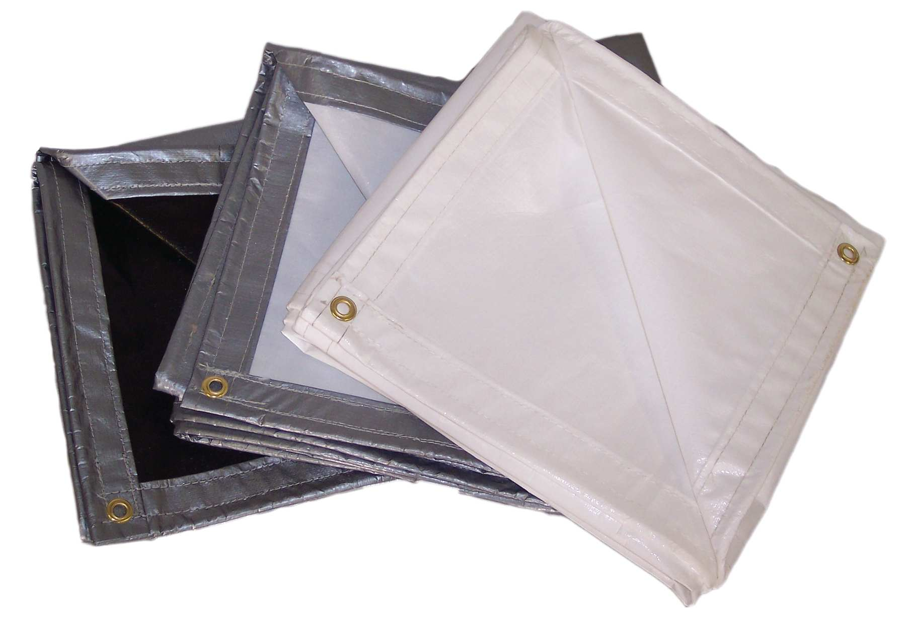 Heavy Duty Reinforced Polyethylene Tarps – 12 mil., 7 oz./sq. Yd.; Size (ft.) 24 x 24