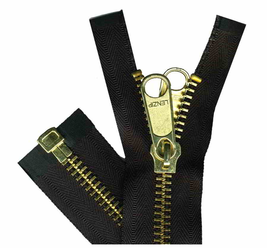 Number 10 Brass Separator Zippers