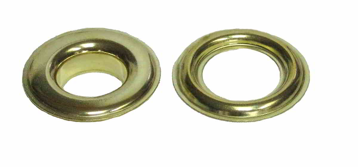 Plain Brass Grommets With Neck Washers