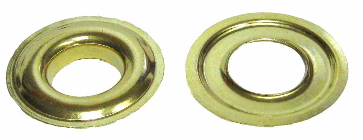 PLAIN GROMMETS WITH PLAIN WASHERS Stainless Steel Size:0 ID:1/4""