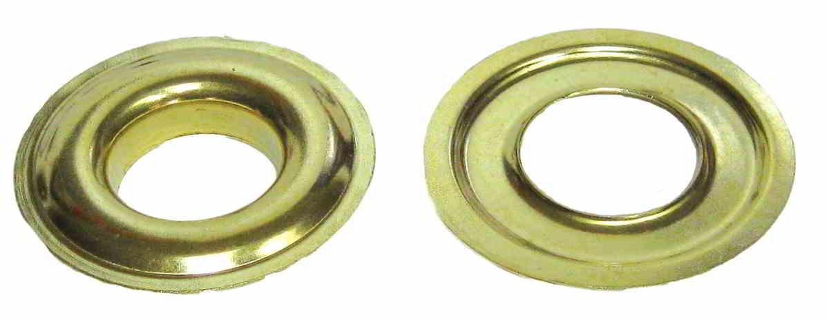 """PLAIN GROMMETS WITH PLAIN WASHERS Zinc Size:2 ID:Long Barrel 3/8"""""""