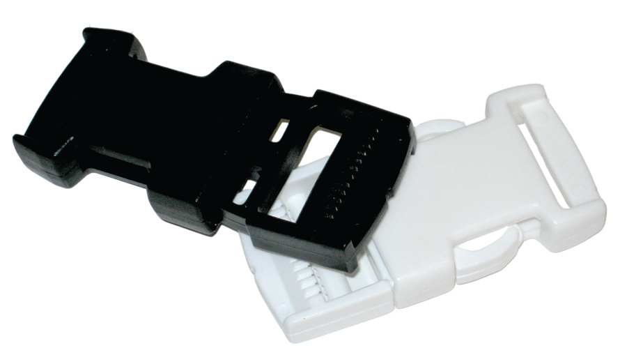 STANDARD SIDE RELEASE BUCKLE BLACK PLASTIC 1""
