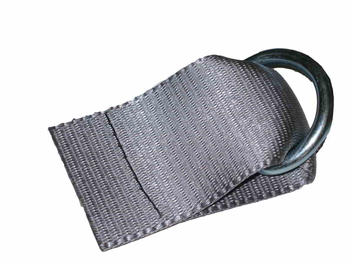 "POLYESTER WEBBING – SEATBELT STYLE 6"" Seat Belt Tab w/ 1-1/8"" D-Ring Attached"