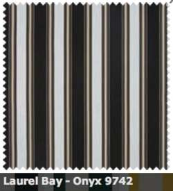 SATTLER ELEMENTS OUTDURA STRIPES Laurel Bay Onyx