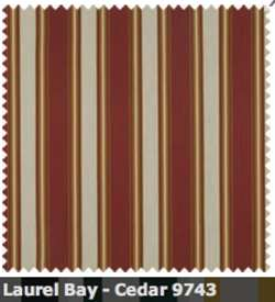 SATTLER ELEMENTS OUTDURA STRIPES Laurel Bay Cedar