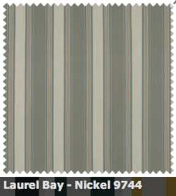 SATTLER ELEMENTS OUTDURA STRIPES Laurel Bay Nickel