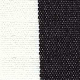 SATTLER OUTDURA BIG SUR BLOCK STRIPES Checkerboard – Black/White