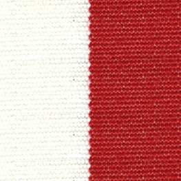 SATTLER OUTDURA BIG SUR BLOCK STRIPES Candy Cane – Red/White