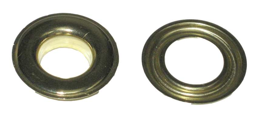 Self Piercing Brass Grommets With Plain Washers