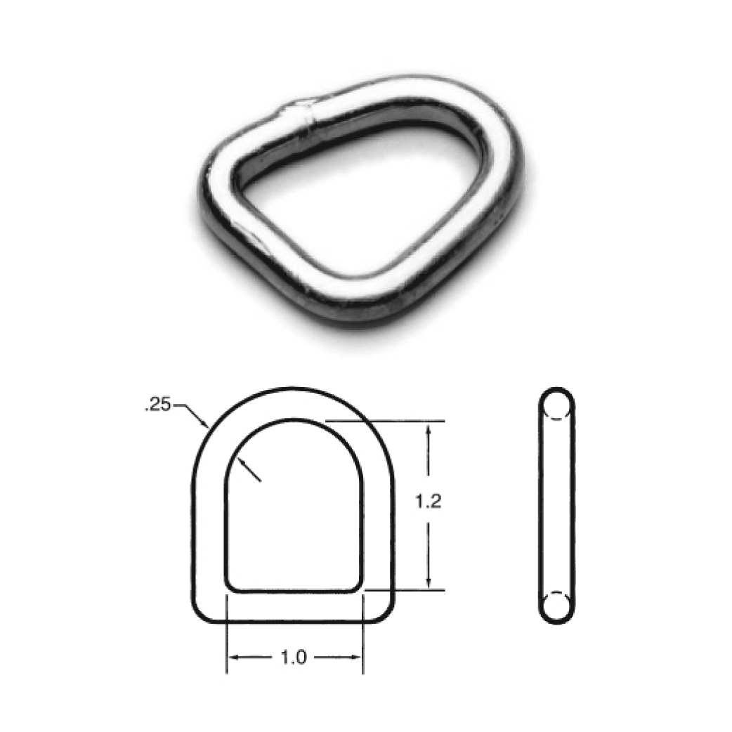 D-RING .05 lbs