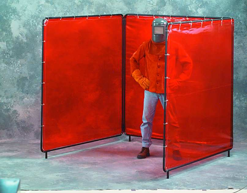 Three Panel Welding Screens